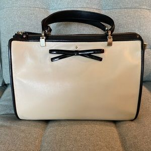 Kate spade shore road laurel satchel cream/black